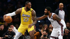 LeBron's Triple-Double Too Much For Kyrie, Nets